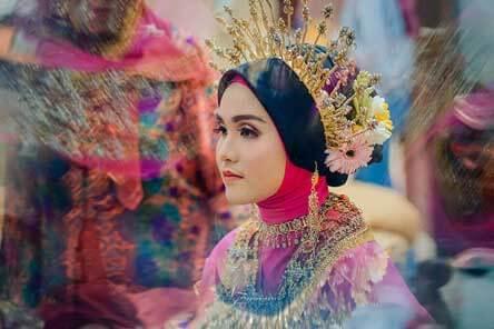 Pengantin Hijab Adat Makassar